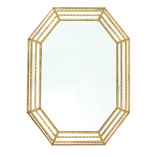 Labarge Gold Faux Bamboo Mirror For Sale