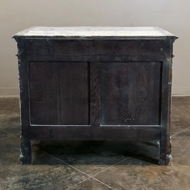 19th Century French Regence Whitewashed Commode For Sale - Image 12 of 13