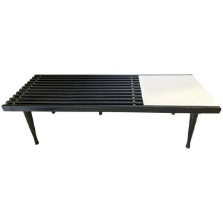 Mid-Century Modern Herman Miller George Nelson Style Coffee Cocktail Table Bench For Sale