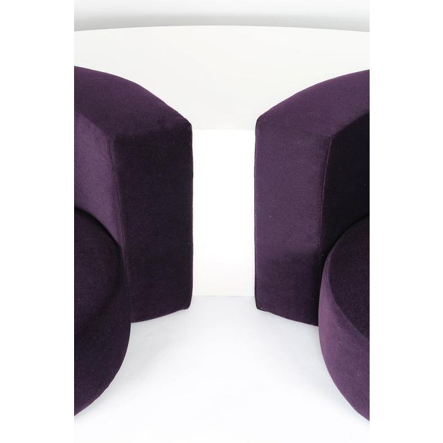 Purple MILO BAUGHMAN CHAIRS AND INTEGRATED CONSOLE, CIRCA 1970 For Sale - Image 8 of 10