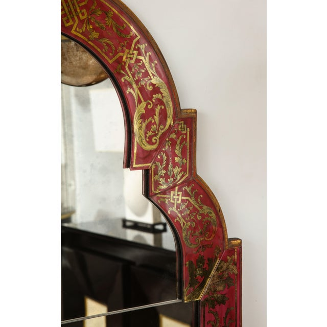 "Queen Anne Reverse-Painted ""Verre Eglomise"" Mirror For Sale In New York - Image 6 of 10"