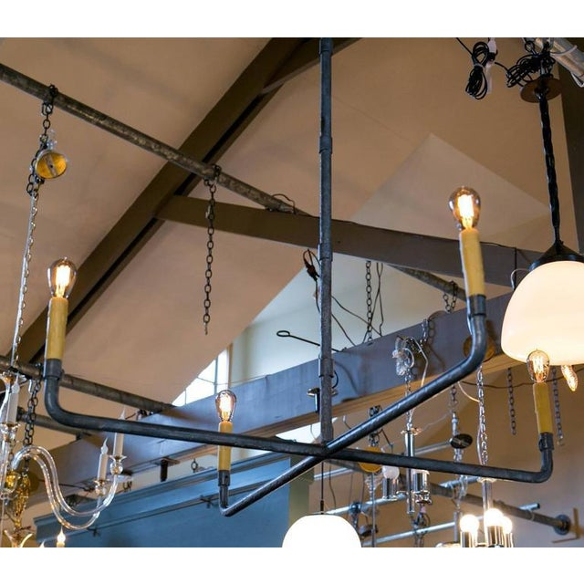 """Iron Customizable """"Guernesy"""" Hand-Wrought Custom Iron Chandelier For Sale - Image 7 of 7"""