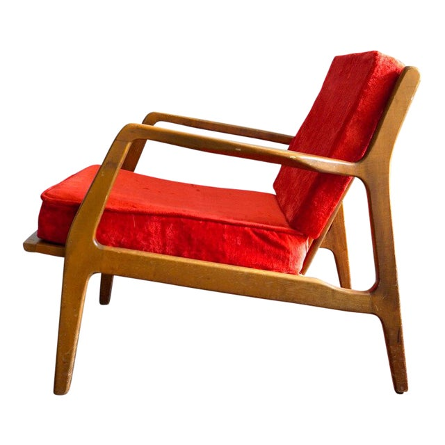 Ib Kofod Larsen Style Mid-Century Danish Modern Lounge Chair - Image 1 of 6
