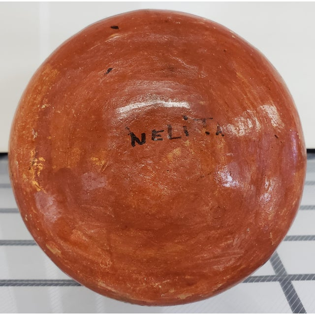 Mid 20th Century Peruvian Shipibo Pottery Clay Figural Olla Vessel Signed Nelita For Sale In New Orleans - Image 6 of 7