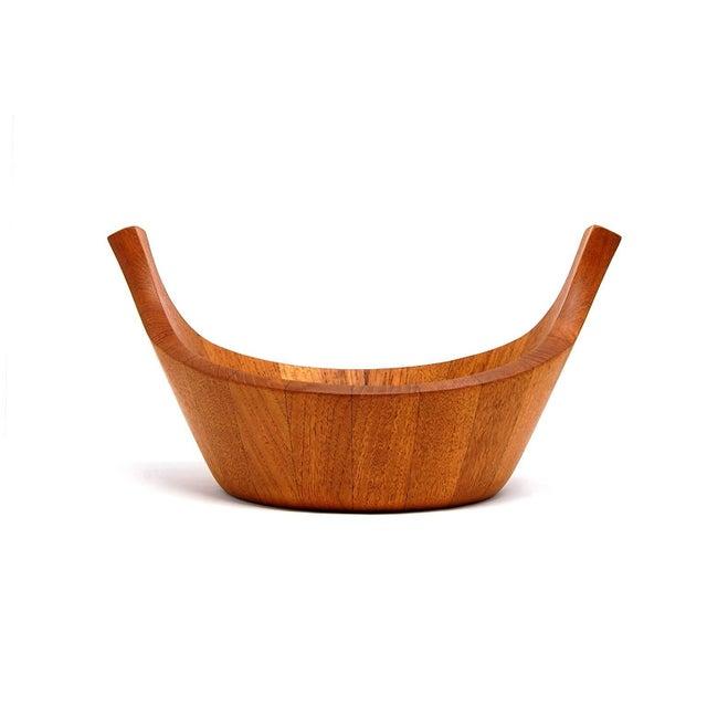 """Early Jens Quistgaard Teak """"Viking"""" Bowl for Dansk For Sale - Image 5 of 5"""
