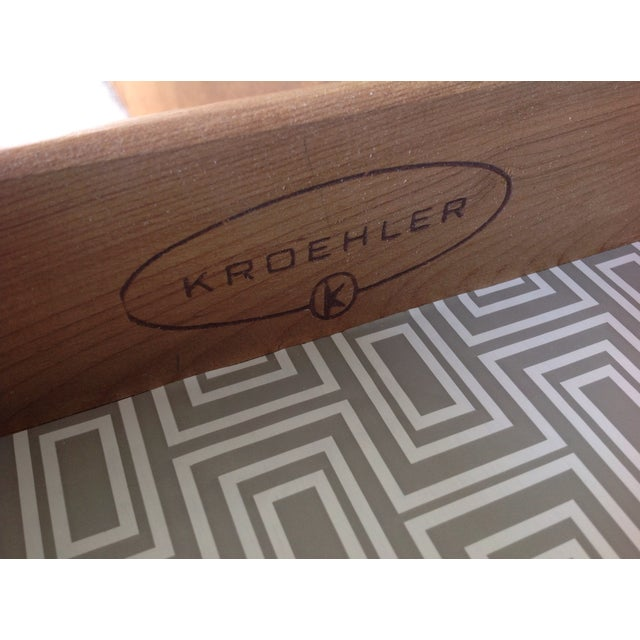 Kroehler Mid Century Three Drawer Nightstand - Image 6 of 6