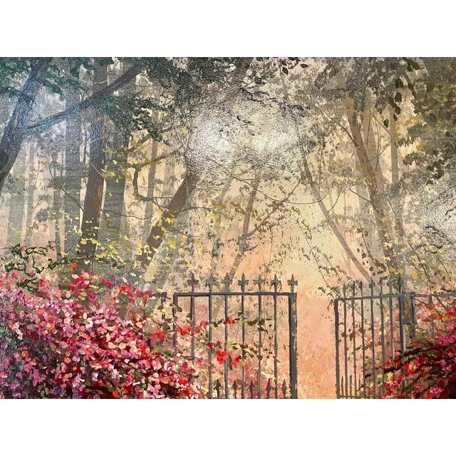 Juan Archuleta Gates and Garden Painting For Sale In New York - Image 6 of 13