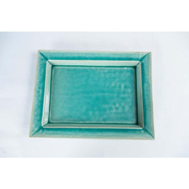 Vintage Crackle-Glaze Ceramic Tray, by Jars, France, Mid-20th Century For Sale In New York - Image 6 of 11