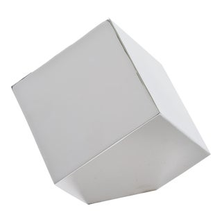 Closed Standing Cube in Nickel For Sale
