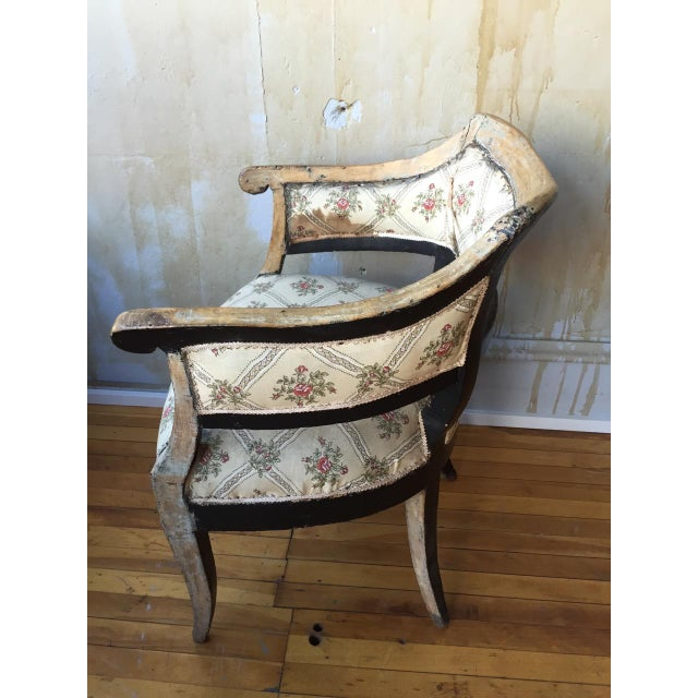 White Italian Antique Arm Chair For Sale - Image 8 of 10