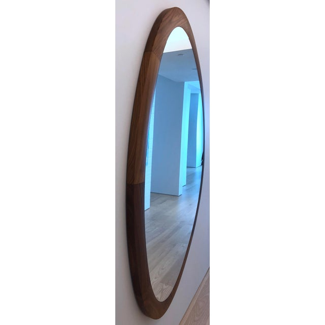 Contemporary Porada Giolo Walnut Mirror For Sale - Image 3 of 4
