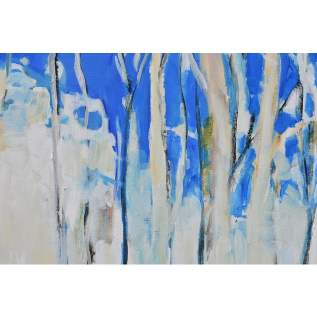 """2010s Abstract Painting, """"Have You Ever Seen a Sky So Blue"""", by Stephen Remick For Sale - Image 5 of 10"""