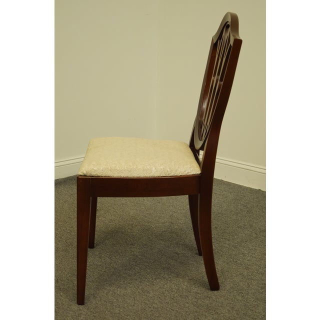 1960's Antique Vintage Solid Cherry Duncan Phyfe Sheild Back Side Chair For Sale In Kansas City - Image 6 of 10