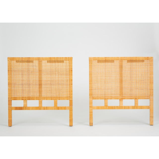 Single Woven Cane Twin Headboard by Danny Ho Fong for Tropi-Cal For Sale - Image 10 of 10