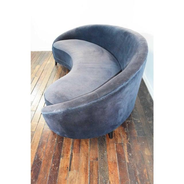 Wood 1950s Vintage Federico Munari Italian Curved Sofa For Sale - Image 7 of 12