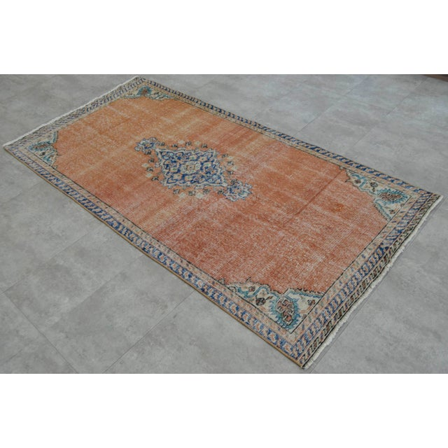 "Turkish Brown Overdyed Hand Knotted Rug - 3'4"" X 6'7"" - Image 2 of 9"