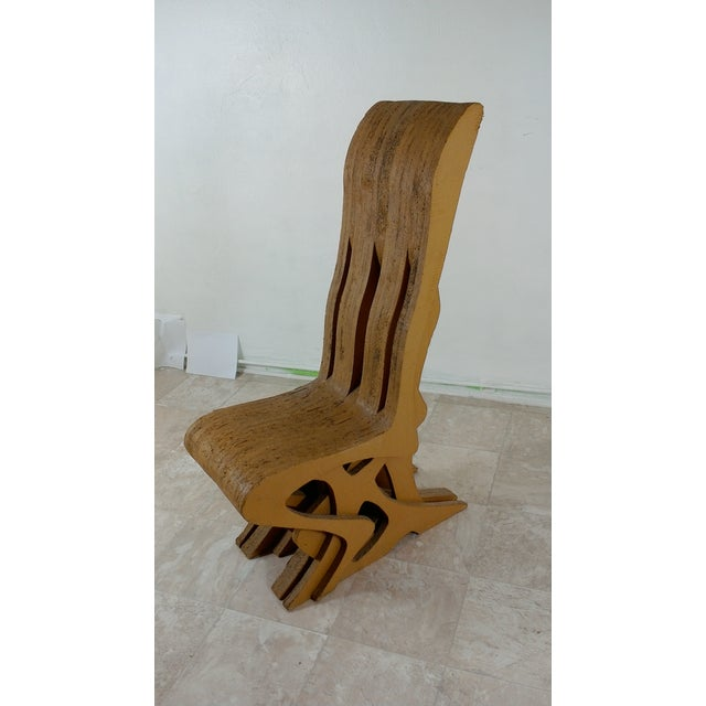 Frank Gehry Vintage Cardboard Chair, 1970s For Sale - Image 4 of 11