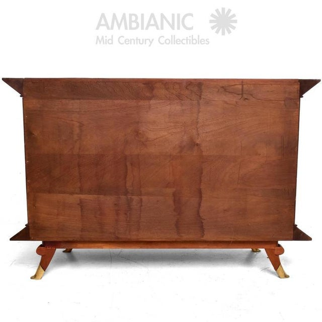 Animal Skin Mexican Modernist Cabinet With Parchment Doors For Sale - Image 7 of 10