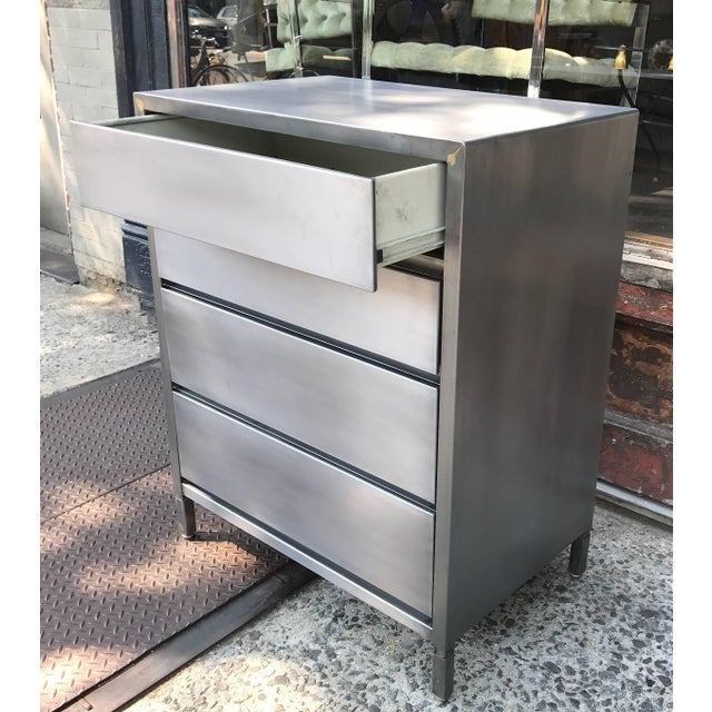 1950s Machine Age Streamlined Brushed Steel Dresser by Superior Sleeprite For Sale - Image 5 of 10