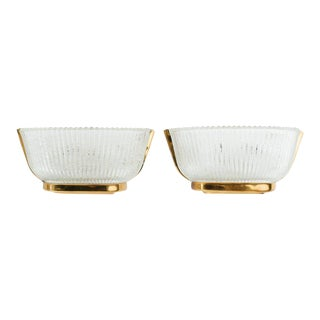Pair of Mid-Century Modern Fluted Glass Sconces by Archemide Seguso For Sale