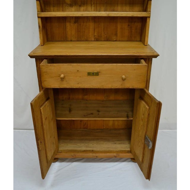 Late 19th Century Pine Two-Piece Open Rack Dresser For Sale - Image 5 of 8