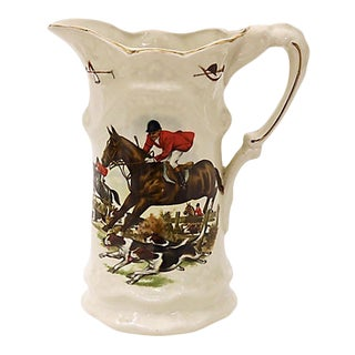 English Hunting Scene Pitcher For Sale