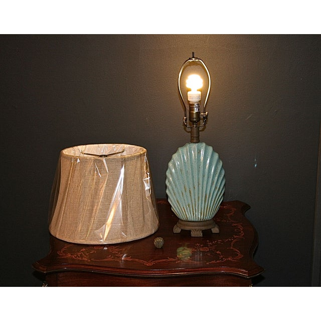Scallop Seashell Lamp - Image 6 of 7