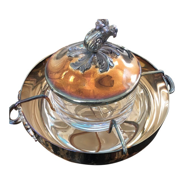 Christofle Silver-Plated Caviar Serving Set For Sale