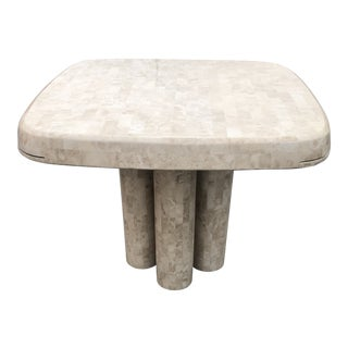 Post Modern Tessellated Fossilized Marble Game Table For Sale