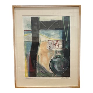 "Gretchen Wachs Monotype Titled: ""Abstraction With Vase"" For Sale"