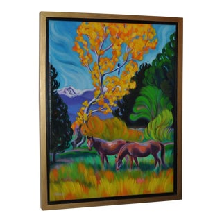 """Tracy Turner Sheppard """"Turning to Beauty"""" Southwest Oil Painting, Circa 2015 For Sale"""