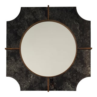 Antique Black Mirror in Frame