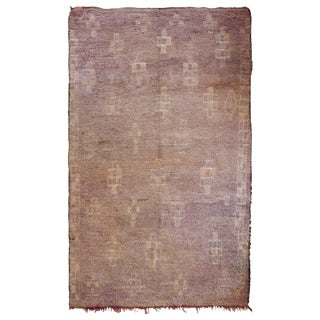 Contemporary Mauve Moroccan Rug - 5′5″ × 8′10″ For Sale