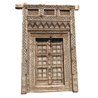 Antique Mogul Carved Doorway