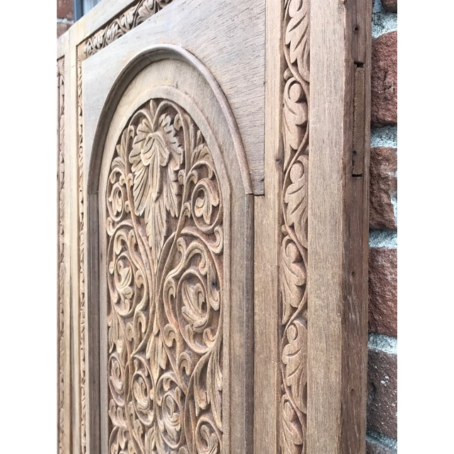Antique Carved Anglo-Indian Doors - Pair - Image 4 of 6