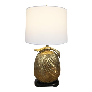Mid-Century Brass Asian Style Bundle Table Lamp