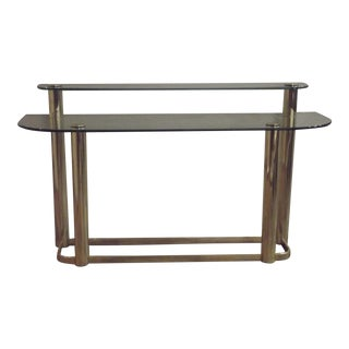 Pace Modern Two-Tier Sofa Table For Sale