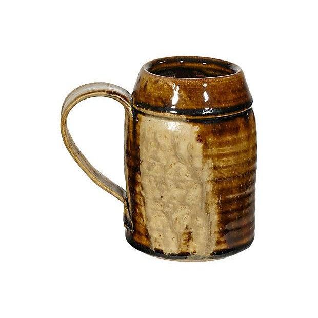 1970s Handled Pottery Mug - Image 1 of 3
