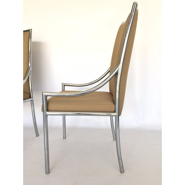 Chrome Dining Chairs After Milo Baughmann - A Pair - Image 4 of 7