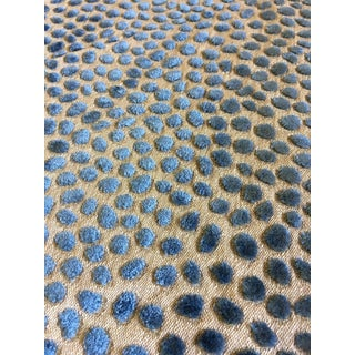 GP & J Baker Cosma Animal Spot Velvet Upholstery Fabric - Sold by the Yard For Sale