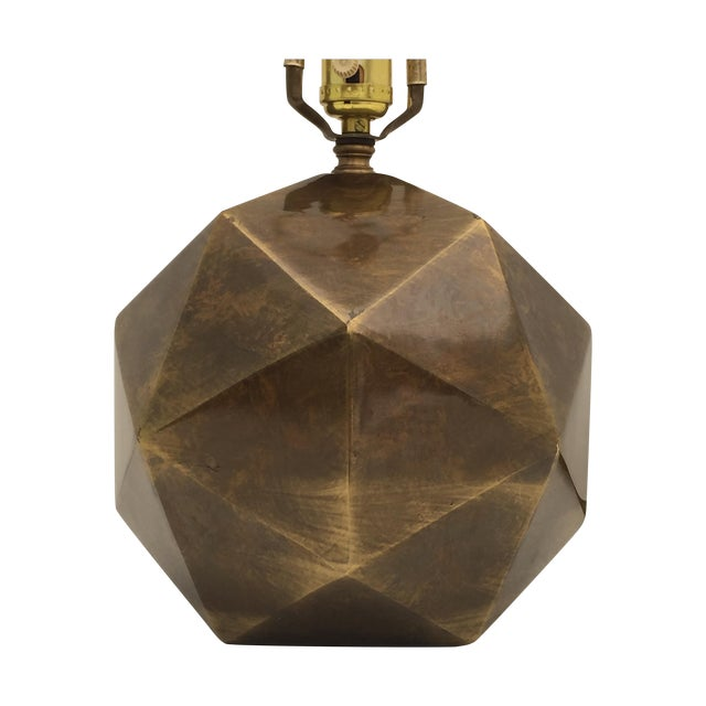 Bronzed Geometrical Lamp by Westwood - Image 1 of 9