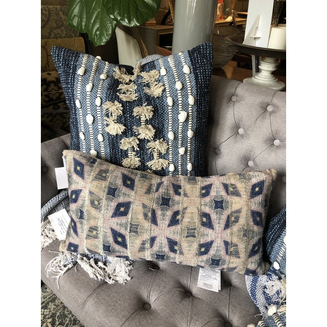 Boho Chic Classic Home Julian Rectangle Bolster For Sale In Chicago - Image 6 of 7