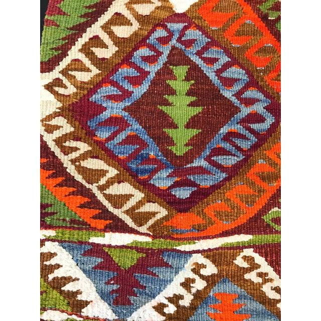Tribal Vintage Turkish Handwoven Wool Kilim Rug- 3' x 3'8'' For Sale - Image 3 of 5