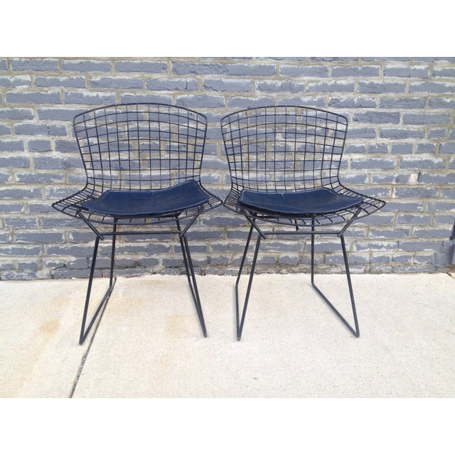 Harry Bertoia Black Side Chairs - Pair - Image 6 of 7