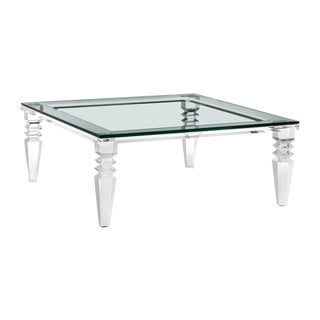 Interlude Home Savannah Square Cocktail Table For Sale
