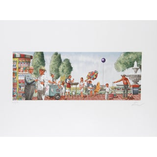 Vic Herman, Any Sunday in Chapultapec Park, Lithograph For Sale