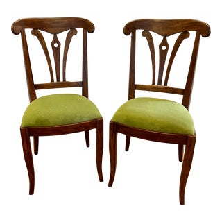 Pair of Theodore Alexander Side Chairs For Sale
