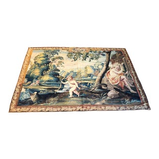 18th Century Romantic Tapestry For Sale