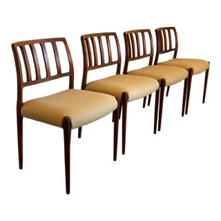 1960s Vintage Moller Teak Dining Chairs- Set of 4 For Sale