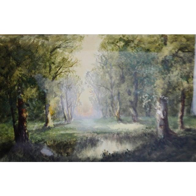 Antique Charles Day Hunt Framed & Signed Landscape Watercolor Painting - Image 2 of 10